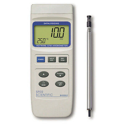 Datalogging Hot Wire CFM Anemometer | Sper Scientific  | 840002