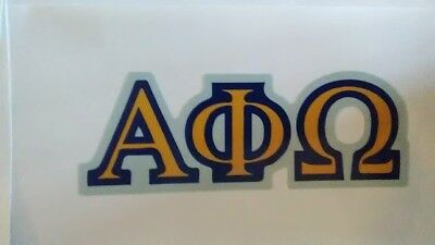 ALPHA PHI OMEGA FRATERNITY NON-Reflective Decal Sticker