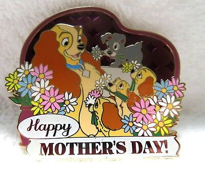 Disney Imagineering Wdi Mothers Day 2014 Lady And Pups Pin Le 250