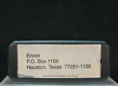Enron Corporation Collectable –Self-Inking Rubber Address Stamp, Houston PO Box