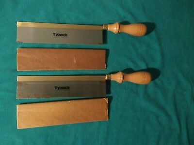 2 Tyzack 8 Inch Brass Back Dovetail Saws ( New Old Stock )
