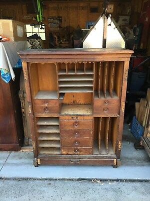 Wooton Desk for Restoration - Case Only with Missing Doors