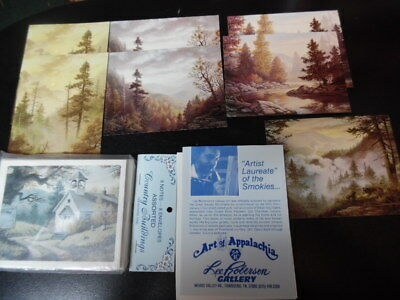 Vintage Lot of 15 NOTE CARDS & ENVELOPES by Artist Laureate of the Smokies