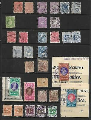 74 NSW used state stamps different perfs,shades,wmks some inverted