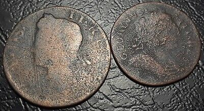 Rare Farthings Dated 1775! Used In America Revolutionary War Era Colonial Coins