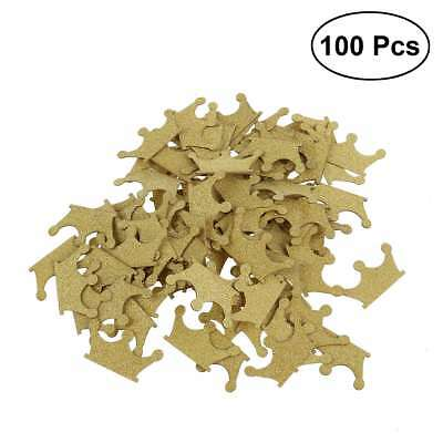 100PCS Gold Glitter Crown Confetti for Wedding Birthday Party Baby Shower Table