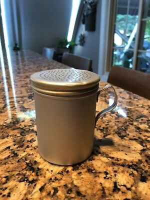 Vintage Aluminum Flour Sugar Shaker With Handle