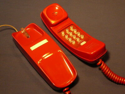 Western Electric Trimline Touchtone Telephone in really red RED