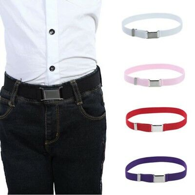 Toddler Boy Kids Buckle Belt Adjustable Elastic Children Buckle Belts Waistband
