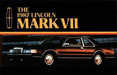 Cars The 1987 Lincoln Mark VII Chrome Postcard