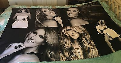 Celine Dion Photo Collage Fleece Blanket 54' X 72' New -Loved Me Back To Life