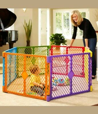 North State Multi-Color Playard, 6 Panel with Portable Design tax free