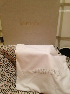 Jimmy Choo Shoe Box Empty With Dust Bag