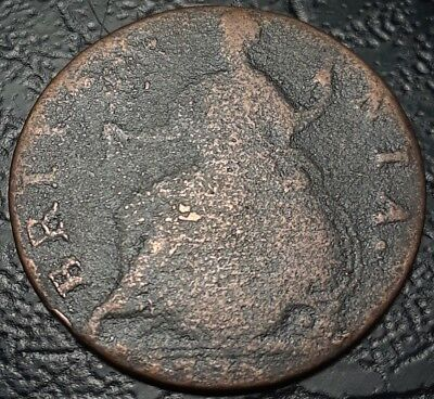 Rare Farthing Dated 1776! Used In America Revolutionary War Era Colonial Coin XF