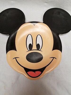 """Collectible """"mickey Mouse"""" Child's Melamine Plate - Too Cute!!"""