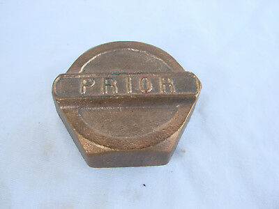 VTG Prior Brass Threaded Screw-on Hubcap Grease Cap Hub Nut Antique
