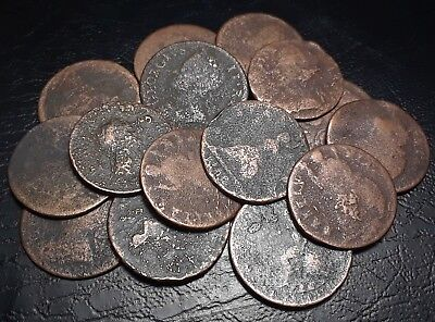 Dug 17th Century Rare Colonial Copper Coins Once Used In The Revolutionary War