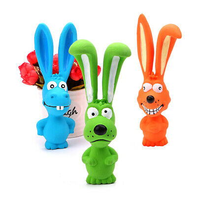 Cute Rabbit Latex Puppy Chew Grab Squeeze Sounding Pet Dog Bite Resistant Toy