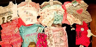 Baby Girl Clothing Lot 118 pieces (three baby boy outfits) new & used