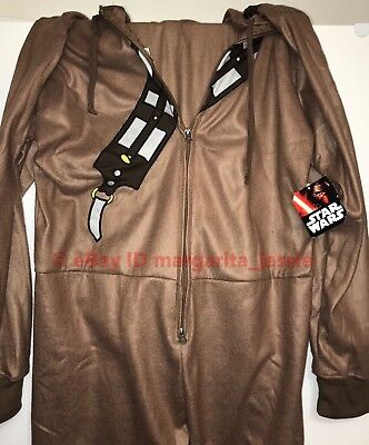 The Last Jedi Chewbacca Adult SIZE LARGE Hooded Pajama Suit Disney Star Wars NEW