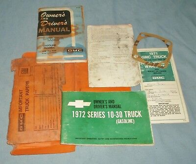 Vintage 1971 GMC Truck 4500 thru 9500 Owner's and Driver's Manual Warranty +