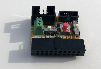 SWD Adapter Segger J-Link to Tag-connect + 10pin SWD + UART + power switch