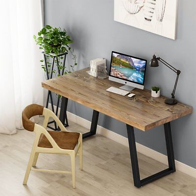 Solid wood computer desks Modern Tribesigns 55 Picclick Tribesigns 55