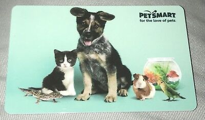 Petsmart Gift Card No Value New Dog Cat Fish Guinea Pig Canary Collectible