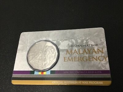 2016 RAM 50 cent UNC Coin - Australia at War - Malayan Emergency