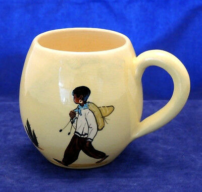 1950s MARTIN BOYD POTTERY MUG MEXICAN BOY & CACTUS DECORATION SIGNED #9