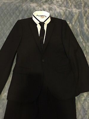 Next Signature Boys Black 5 Piece Suit age 13 Years
