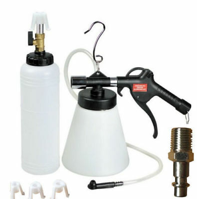 New Pneumatic Brake Fluid Bleeder w/4 Master Cylinder Metal Adapters 90-120 PSI