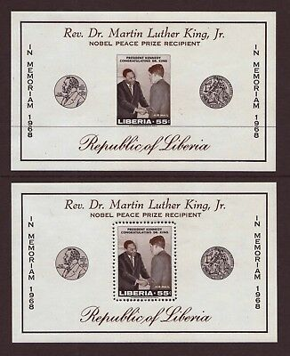 Liberia - 1969 - Imperf & Perf Mini Sheets In Memoriam Of Dr.martin Luther King