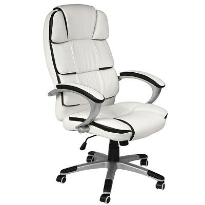 luxury computer office desk chair pu leather high back swivel