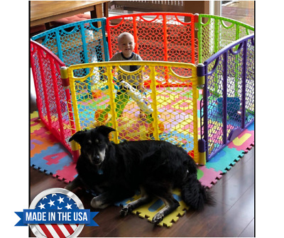 Play Pen for Toddler Baby Out Play Yard Indoor Quick Easy Set Up Safety Play GP
