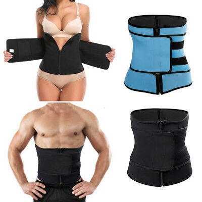 Men Women Corset Tummy Waist Cincher Sweat Trainer Hot Body Shaper Slim Belt NEW