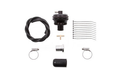 """BLACK Silicone 2/"""" Inch Dump Valve Fitting Kit 50mm Alloy T-Piece for 25mm BOV"""