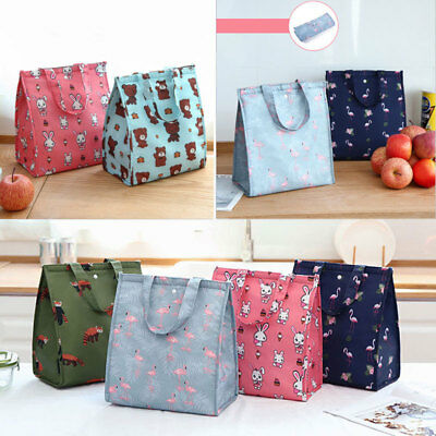 New Cooler Insulated Canvas Picnic Lunch Bag Box for unisex Thermal Food