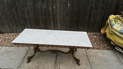 Marble Table Top With Brass Bottom