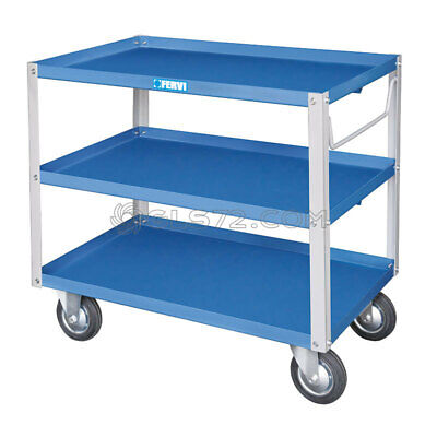 Robust Construction Three Shelves Trolley Easy Safe Storage Fervi C750