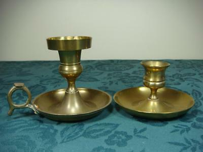 Brass ? Metal Candle Holders X 2
