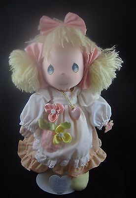 """PRECIOUS MOMENTS 16"""" Doll w/Locket, Tags and Stand"""