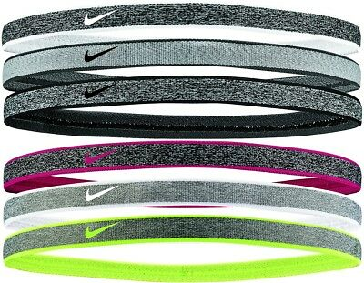 Nike Heathered Swoosh Sport Band 3er Pack Haarband Kopfband