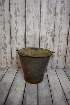 Vintage Metal Bucket Garden Planter Plant Pot Log Basket Storage Container (B3)