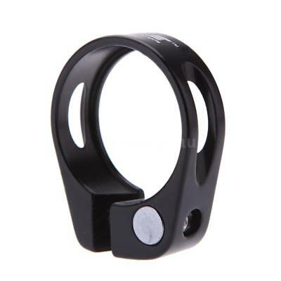 Road Bike MTB Seat Post Clamp Seatpost Clamp Quick Release QR 31.8mm Black V3X8