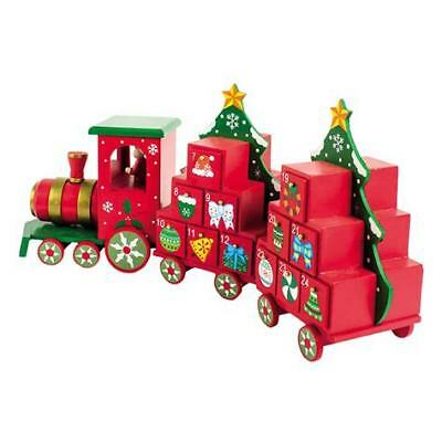 Heaven Sends Christmas Wooden Train Advent Calendar - Train Advent Calendar