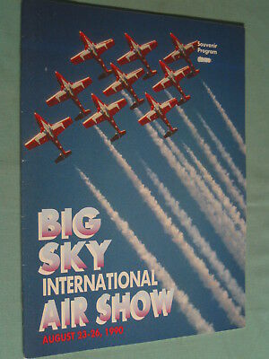 Photo History Program BIG SKY INTERNATIONAL AIR SHOW Billings Montana 1990