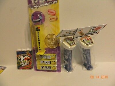 2018 Pez made Convention pez Red lettering addendee puck and multi color puck