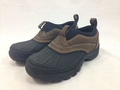 LL Bean Tek 2.5 Shoes Womens 8.5 M Leather Rubber Slip On Outdoor Ankle Boots