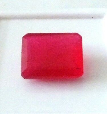 NATURAL EMERALD CUT RED RUBY LOOSE GEMSTONES LARGE 13.1 x 10 mm - 6.30 CT AAAAA